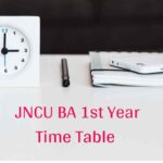 JNCU BA 1st Year Time Table