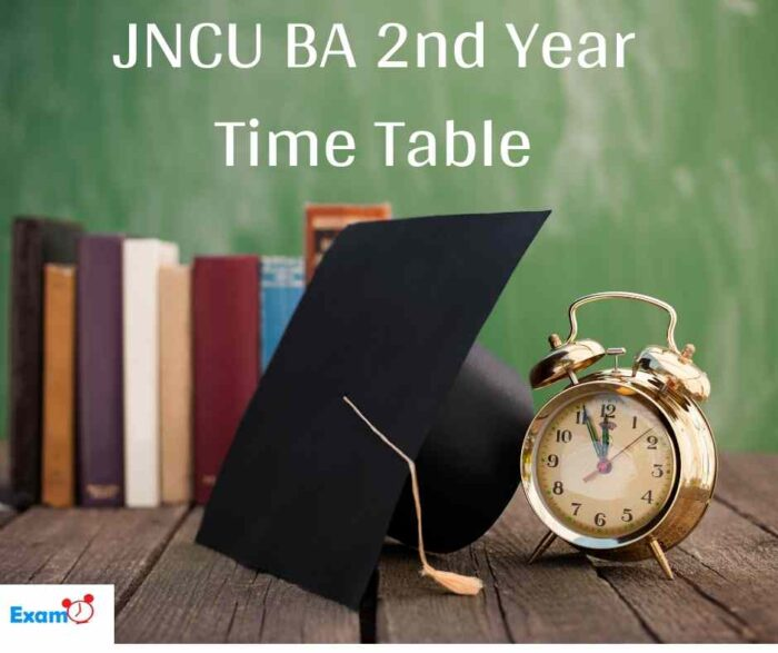 JNCU BA 2nd Year Time Table
