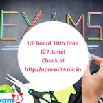 UP Board 10th Dtae (27 June) Check at http___upresults.nic.in
